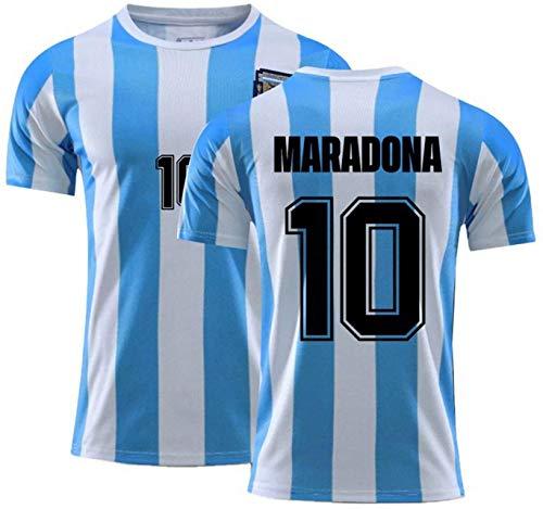 FCMZHG 1986 Maglia storica da Calcio Argentina Maradona No.10, Maglietta commemorativa per Allenamento Sportivo della Squadra Nazionale da Uomo (S)