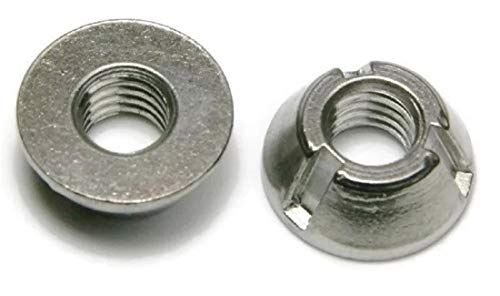 Tri-Groove Tamper Proof Security Nuts 316 Stainless Steel 1/2