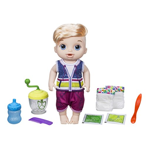 Baby Alive e0635es0 Boy Sweet lepel blonde baby pop