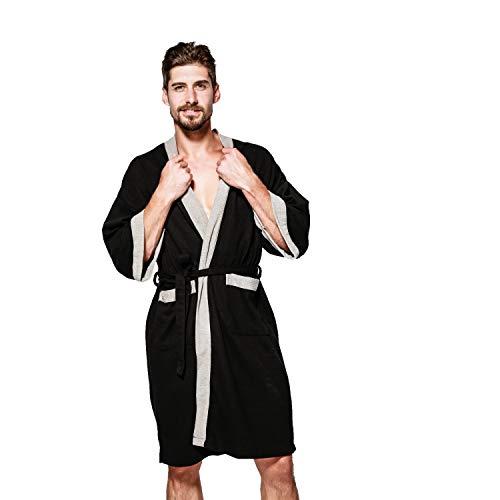 Unisex Albornoz Hombre o Mujer Primavera Verano Batas y Kimonos con Cinturón,Muy Suave Cómodo Fino Ligero y Agradable para Hombre o Mujer