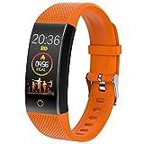 l b s Smart Watch Touch Screen IP68 Impermeabile Fitness Tracker Pressione Sanguigna e Cardiofrequenzimetro Modalità Sport Braccialetto Intelligente per gli uomini e le donne (A)