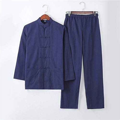 JTKDL Taijiquan Oefening Kleding Martial Arts Prestaties Kleding Ochtend Oefening Pak Mannen Katoen Tang Suit,H-M