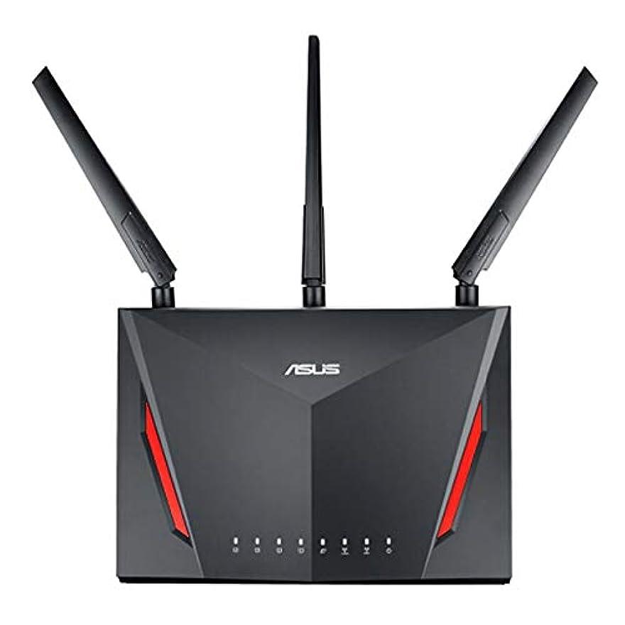 JasnyLoo 家庭用RT-AC86U用の3つの外部アンテナを備えた4ポートサブネットLANを備えたAsusデュアルバンドワイヤレスブロードバンド