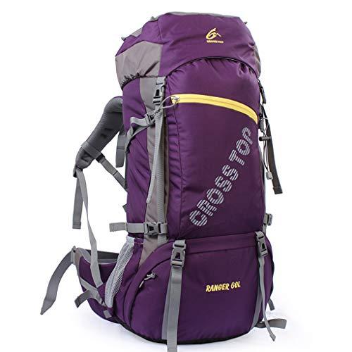 Bags Mochila de Senderismo de Gran Capacidad para Viajes de Acampada al Aire Libre de Gran Capacidad 60 litros (Color : Violet)