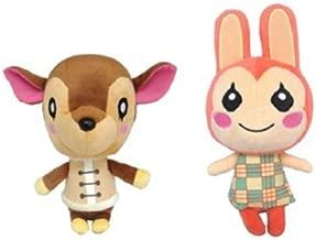 Set of 2 Animal Crossing New Leaf Plush - Fauna & Bunnie