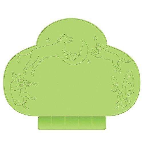 Pixnor Set de table portable en silicone antidérapant pour bébé Vert