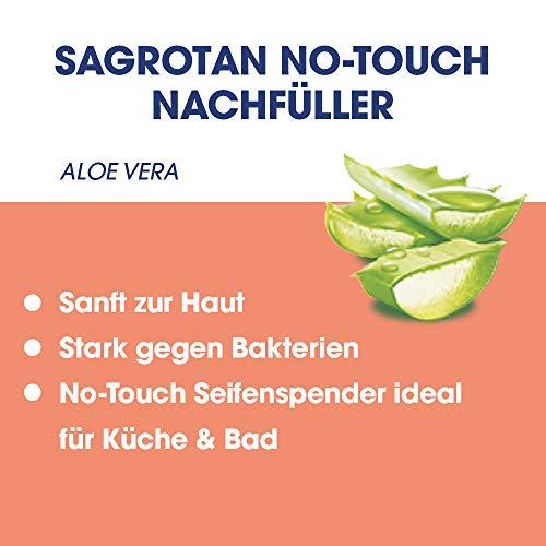 Sagrotan No-Touch Nachfüller Aloe Vera – Für den automatischen Seifenspender – 5 x 250 ml Handseife im praktischen Vorteilspack - 3