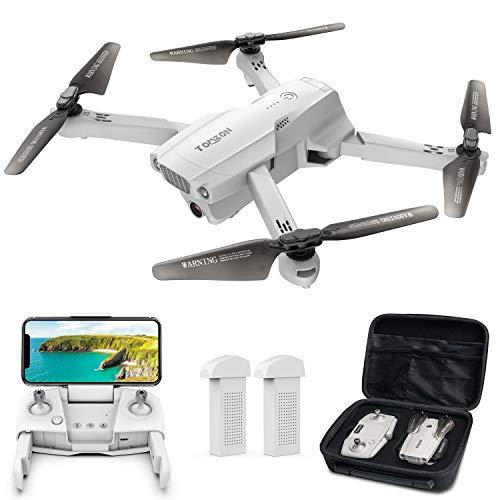 ドローン Tomzon GPS搭載 4K HD 広角カメラ付き 200g以下 リアルタイム伝送 折り畳み式 高度維持・ワンキー離陸/着陸・フォローミーモード・ジェスチャー撮影 ・MVモード・オートリターン 収納ケース付き バッテリー2個 飛行時間40分 国内認証済み 2 (グレー)