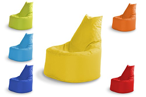 MINDERIM Sitzsäck Outdoor & Indoor Sitzsack Gaming Sessel für Kinder und Erwachsene Sitzsäcke Bean Bag Chair Geeignet Fertig Befüllt mit Styropor Füllung EIN Lounge Sitzkissen 100% Wasserfest Gelb