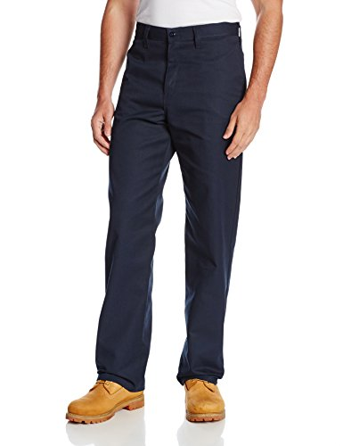 Dickies Occupational Workwear LP812NV 42x32 Polyester/Cotton Relaxed Fit Men's Industrial Flat Front Pant with Straight Leg, 42