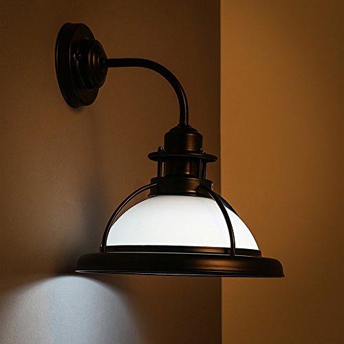 Neilyn Pays Américain Antique Fer Industriel Mur Lampe Mur Lanterne Vintage Chaude Romantique Chambre Mur Applique Rétro Créative Allée Balcon Bar Mur Lumière E27 Socket (Color : White)