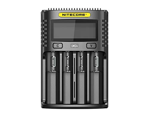 Nitecore - Caricatore Universale UMS4 3000 mA USB per Adulti, Unisex, Colore: Nero, L 159 x L 107 x H 41