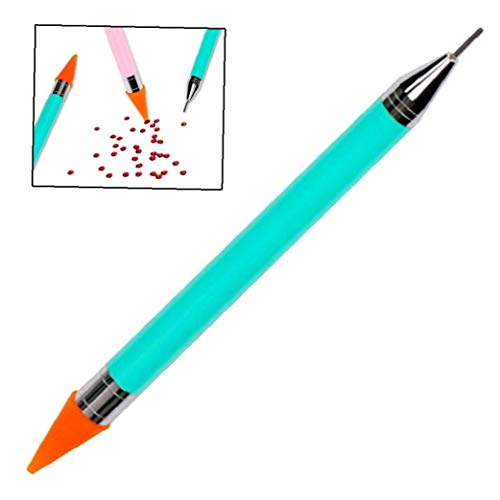 Wax Nail Strass Picker Crayon Dotting Pen Acrylique Poignée Double Terminé Maleicure Nail Art Outil Bricolage Décoration