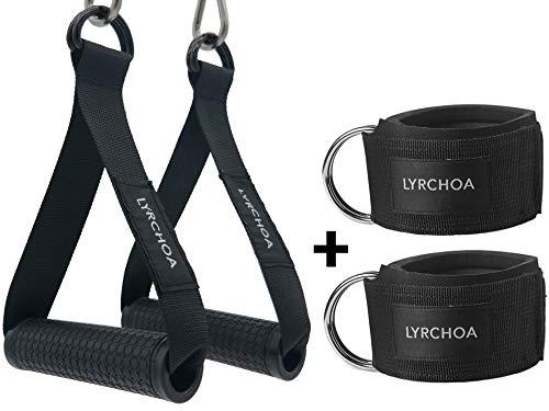 LYRCHOA Griffe Für WiderstandsbäNder ,Ankle Straps Für Frauen Und MäNner Ideal Für Workout Am Seilzug Kabelzug Oder Kraftturm