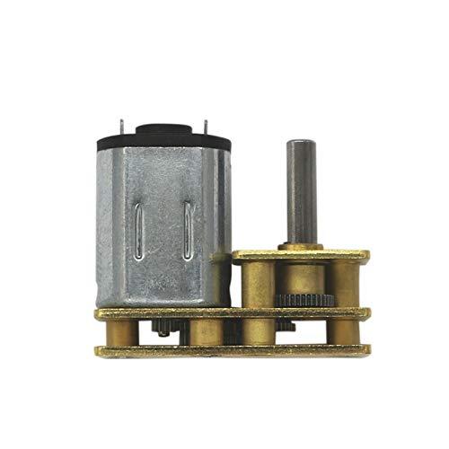 NO LOGO WJN-Motor, 1pc Mini N20 6V DC Motor Flip Geschwindigkeitsreduzierung 15RPM-300RPM Getriebemotor mit Metallgetriebe Getriebemotor for Roboter DIY (Farbe : 15 RPM, Größe : 6V)