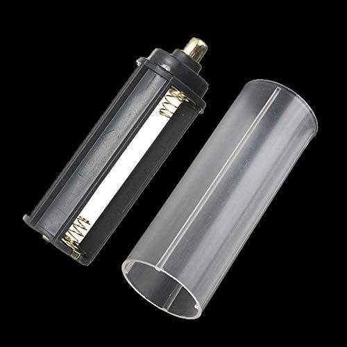 FENSIN 1Pcs 18650 Battery Tube + 1Pcs AAA Batteriehalter FüR Taschenlampe Scheinwerfer Licht für LED-Taschenlampe für Outdoor Jagd Camping Wandern