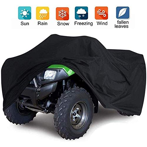 Waterdicht Car Cover Heavy Duty Executive Car Cover Voor ATV Quad Universal 190T Waterdicht Motorfiets Voertuig Scooter Kart Motorfiets Covers,Black,L
