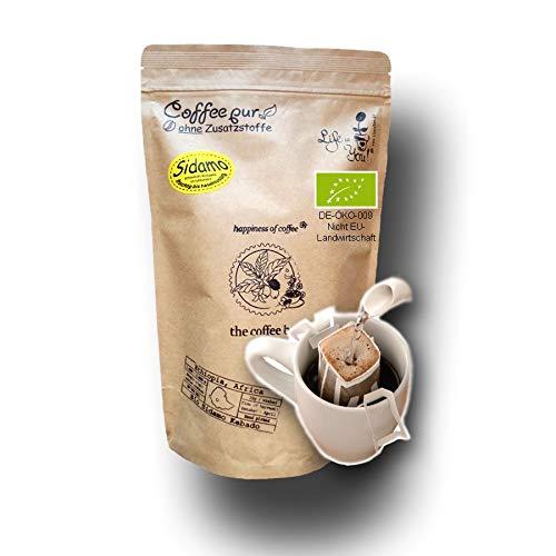Life is You! Coffee Bags | (BIO) Kaffee Sidamo aus schattigen Waldgärten aus dem Gebiet Sidamo, Region Kebado in Äthiopien | 15 Coffee Bags (für Becher) | frisch und schonend handgerösteter Filterkaffee | bekannt aus 'Die Höhle der Löwen'