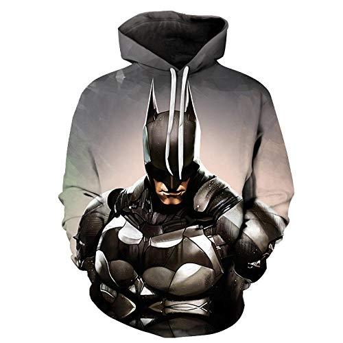 Sweat à Capuche Unisexe imprimé 3D Batman Hommes Femmes Sweats à Capuche coloré à Manches Longues Pull Polaire Cool Sweat Pull à capuche-A01_L