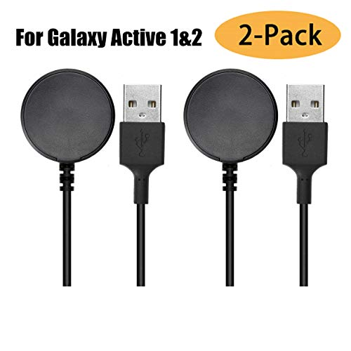 (2-Pack) Compatible with Samsung Galaxy 3 Watch/Active/Active 2 Charger Dock,Wireless Charging Cable for Samsung Galaxy Watch SM-R500/SM-R820/SM-R830/SM-R850
