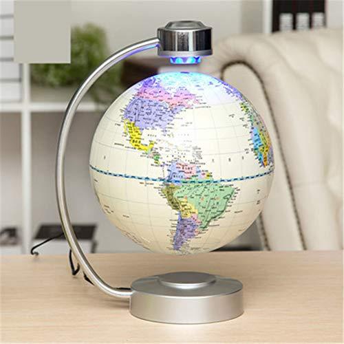 LLVV 8-Zoll-Globus 360-Grad-Magnetschwebekarte für die Schreibtischdekoration,Weiß