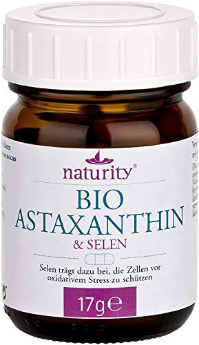 BIO Astaxanthin, hochdosierte Kapseln mit Astaxanthin und Selen, zum Schutz vor oxidativem Stress, Bio-Qualität, vegan (45 Kapseln)