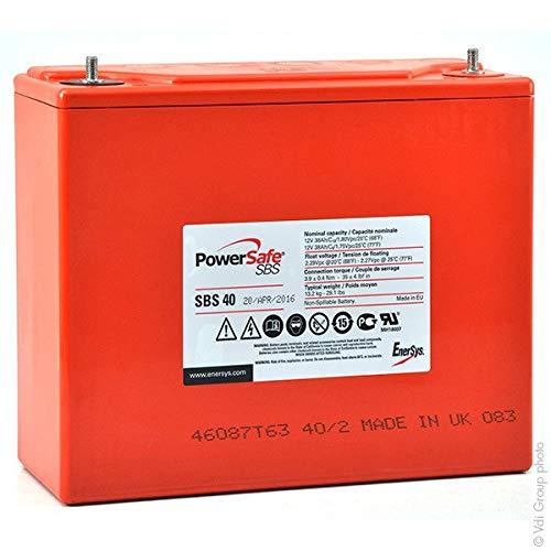 Enersys - Batería Plomo Puro Powersafe SBS40 12V 38Ah M6-V