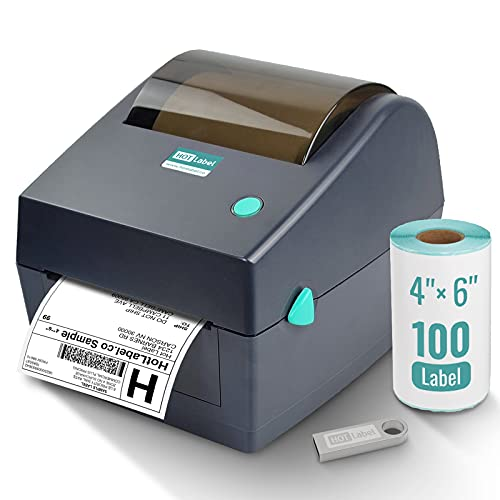 HotLabel Thermal Printer, 4x6 Shipping Label Printer, Desktop Thermal Label Printer, Sticky Label Maker Machine, Compatible with Amazon, Ebay, Etsy, Shopify Royal Mail UPS Hermes