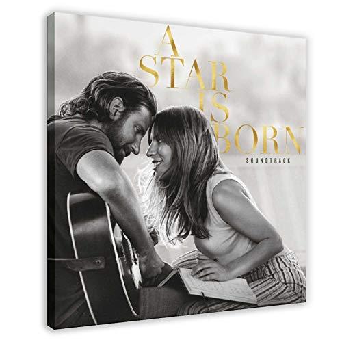Singer Lady Gaga A Star Is Born Soundtrack Album copertina tela poster decorazione camera da letto sport paesaggio ufficio decorazione camera da letto 60 x 60 cm Frame-style1