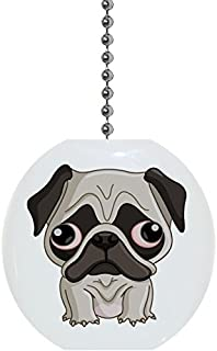 GRAPHICS /& MORE Tough Pug Puppy Dog in Cap Hat Ceiling Fan and Light Pull Chain