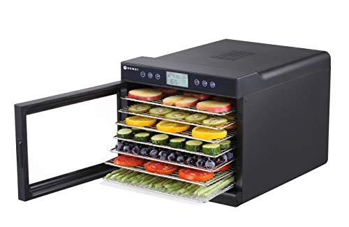 HENDI 229064 Deshidratador de alimentos - 7 bandejas - 230V / 500W - 345x450x(H)315 mm