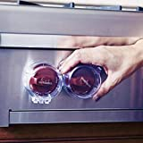 Toddleroo by North States Appliance Knob Covers | Prevents Your Child from Operating The Stove knobs | Fits Most Front Facing stoves | Baby proofing with Confidence (5-Pack, Clear)