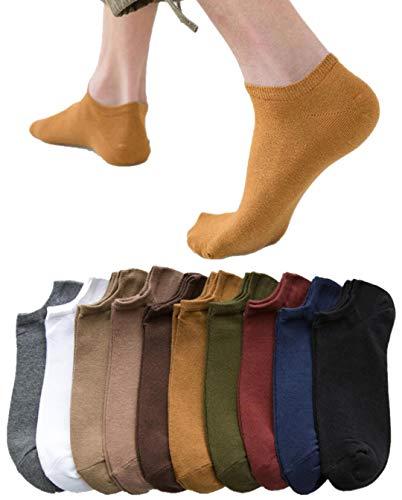 Golway 靴下 メンズくるぶし ソックス 24-28cm 靴下 10足