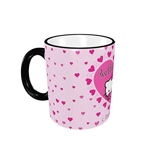 330ML Taza de cerámica Tazas de café Love You Hello Kitty Taza de té para oficina y hogar, regalo divertido