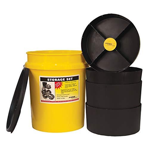 King Innovations 47502黄储物组织器桶