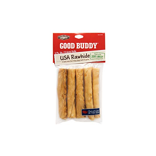 Castor & Pollux Good Buddy Made in USA Natural Chicken Flavor Rawhide Dog Treats Sticks 5 pk x 5