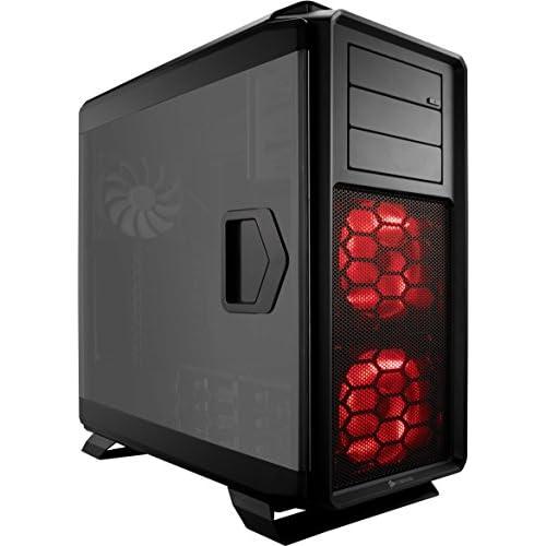 Corsair Graphite 760T v2 Case da Gaming, Full-Tower ATX, Finestra Laterale con Tre AF140 Rosso LED Ventole, Con finestra,760T v2,Nero