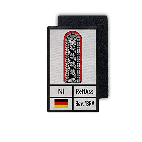 Copytec Rank Patch Rettungsassistent Niedersachsen Abzeichen Dienstgrad 9,8x6cm #35198
