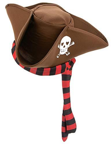 DEGUISE TOI - Chapeau de Pirate Marron Adulte - Taille Unique