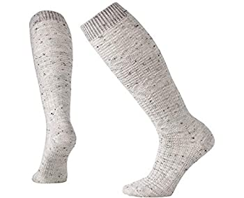 Smartwool What Fields Knee High Sock - Women's Light Cushioned Wool Performance Sock Winter White Donegal Small