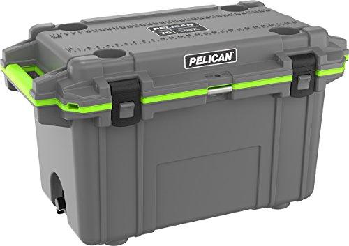 Pelican Elite 70 QT Cooler (Dark Gray/Green)