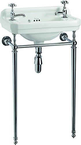 Burlington Edwardianisches Waschbecken mit Waschbeckenständer, 51 cm