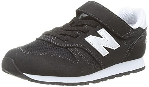 New Balance YV373V2 Sneaker, Black, 38 EU