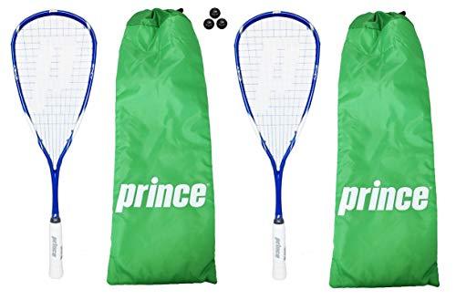Prince EXO3 blu 2 x racchette da Squash con 3 palline da Squash 355