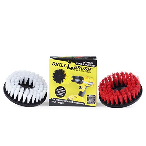 Teppichreiniger - Drill Brush - Indoor/Outdoor Large Spin Bürsten-Reinigungs-Kit - Polsterreiniger - Leder, Glas - Deck Brush - Fugenreiniger - Harte Wasser, Calcium, Erzlagerstätten, Soap Scum