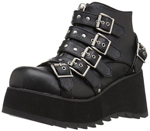 Demonia Women's SCENE-30 Ankle Boot, Black Vegan Leather, 8 M US