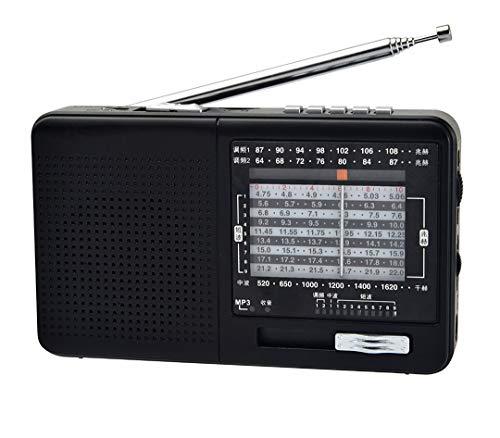 Lsmaa Radio portátil, interruptor mecánico simple con función Mp3, batería de litio reciclable, apto para escuchar radio y reproducir música