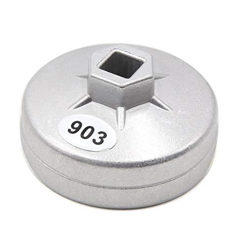 ALONGB 14 Llaves de Filtro de Aceite con Tapa de Flauta, 76 mm de diámetro Interior para el Coche.