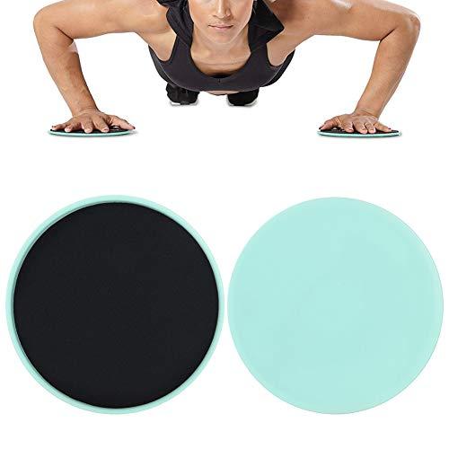 Rehomy Slider Core Disco Scorrevole da 2 Pezzi per lallenamento Completo del Corpo da Utilizzare su Moquette o Pavimenti duri