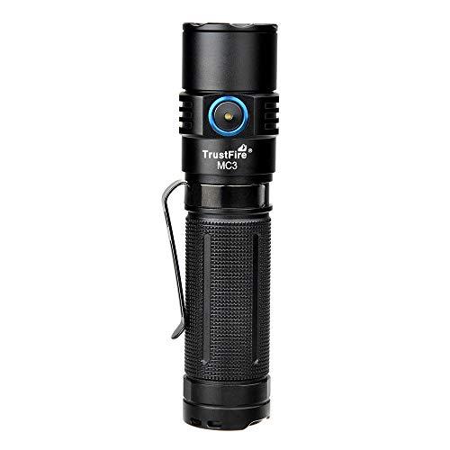Torcia a LED Trustfire MC3 Torcia magnetica ricaricabile 2500 lumen luminosi con funzioni di ricarica magnetica USB per sport all'aria aperta come alpinismo e campeggio